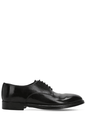 Polished Leather Lace-up Derby Shoes