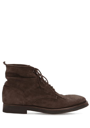 Lace-up Washed Suede Boots