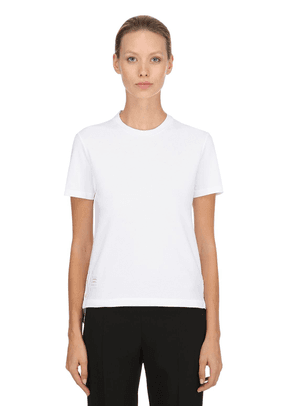 Back Stripe Cotton Piqué T-shirt