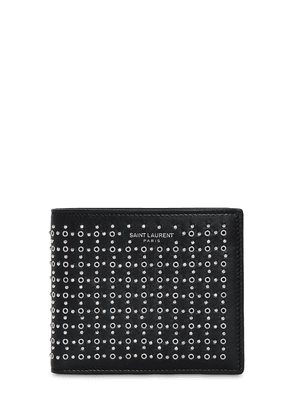 Studs & Eyelets Leather Wallet