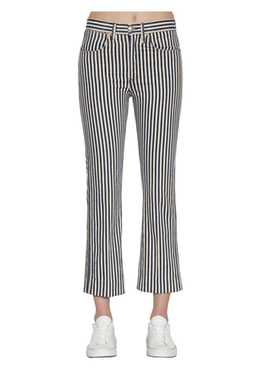 Striped Vintage Straight Denim Jeans
