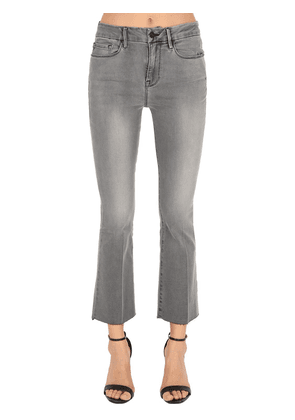 Flared Raw Cut Cotton Jeans