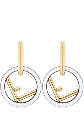 F Logo Metal Earrings