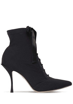 90mm Jersey Lace-up Ankle Boots
