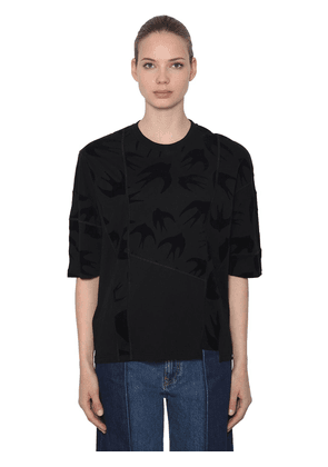 Over Swallows Patchwork Jersey T-shirt