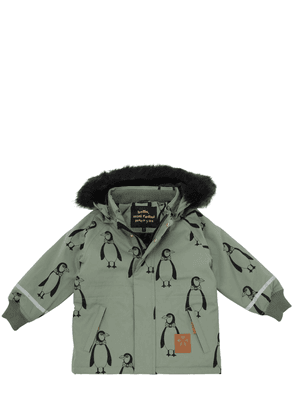Penguin Printed Nylon Ski Jacket