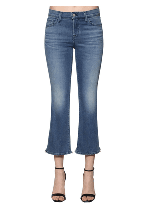 Mid Rise Selena Cropped Denim Jeans