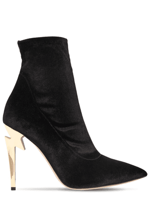 105mm Stretch Velvet Ankle Boots