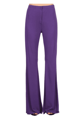 Flared Crepe Jersey Pants