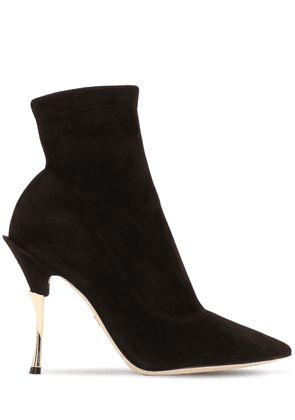 105mm Stretch Suede Ankle Boots