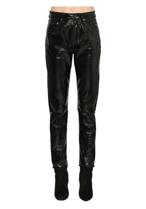Vinyl Slim Fit Pants