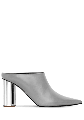 90mm Pointy Leather Mules