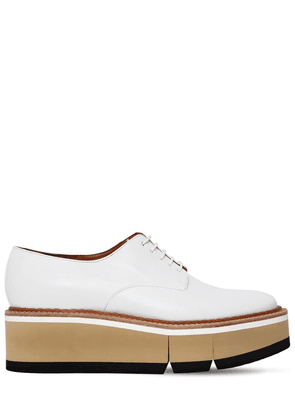 60mm Barbara Leather Derby Wedge Shoes