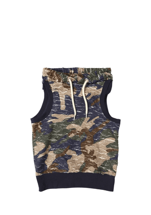 Destroyed Cotton Sleeveless Sweatshirt