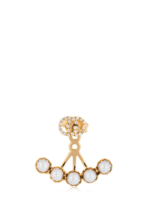 18kt Gold & Diamond Gg Mono Earring