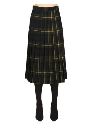 Wool Plaid Kilt Skirt