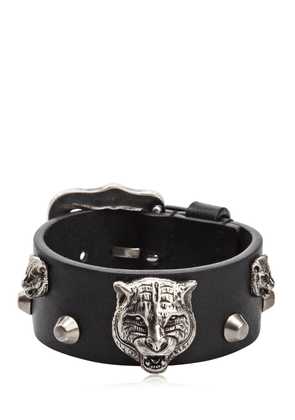 Tiger Head Leather Bracelet