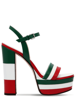 Striped Leather Sandals