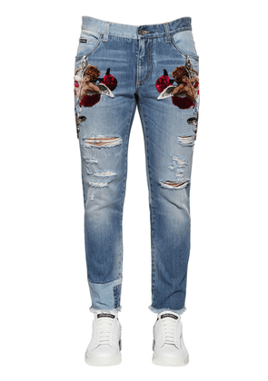 16.5cm Velvet Patches Destroyed Jeans