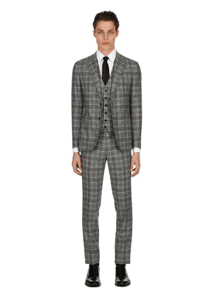 Unlined Wool Prince Of Wales Suit