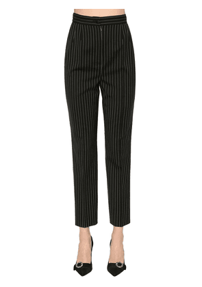 Pinstriped Stretch Cool Wool Pants