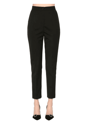 Stretch Wool & Silk Classic Pants