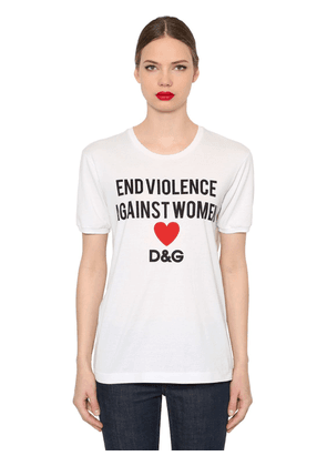 End Violence Printed Jersey T-shirt