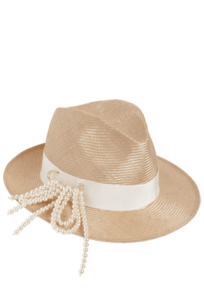 Fedora Hat W/ Pin & Imitation Pearls