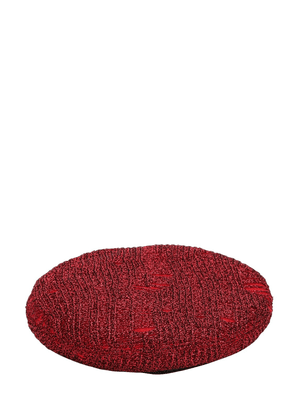 Cher Metallic Knit Beret