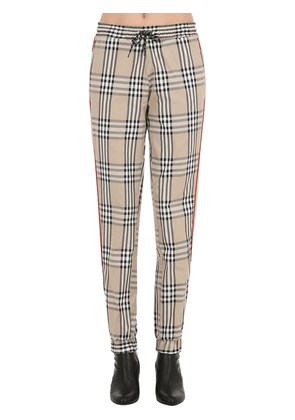 Checked Track Pants