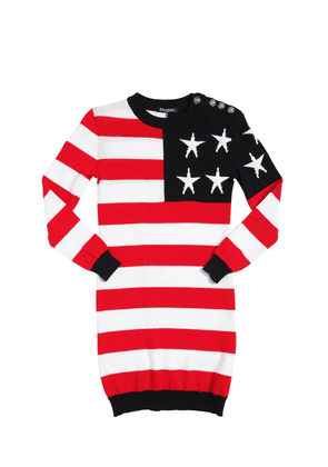 American Flag Cotton Sweater Dress