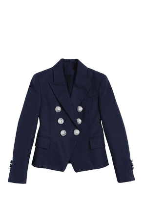 Double Breasted Cotton Canvas Jacket