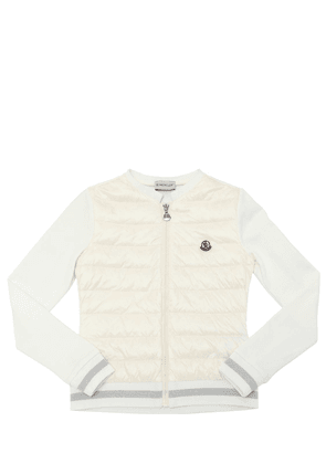 Cotton Sweatshirt With Down Front