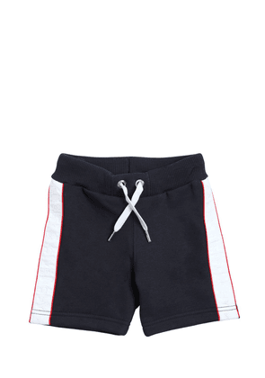 Cotton Sweat Shorts With Side Bands