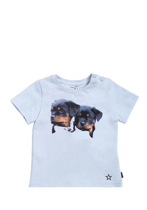 Dogs Printed Cotton Jersey T-shirt