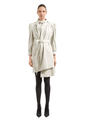 Pulled Feminine Canvas Trench Coat
