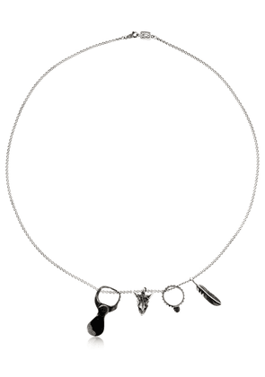 Silver Necklace With Pendants