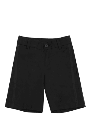 Wool Shorts With Grosgrain Details