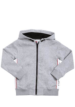Hooded Zip-up Cotton Sweatshirt