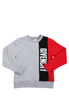 Tricolor Cotton Sweatshirt