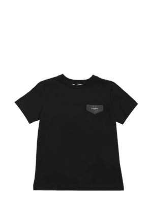 Cotton Jersey T-shirt With Logo Patch