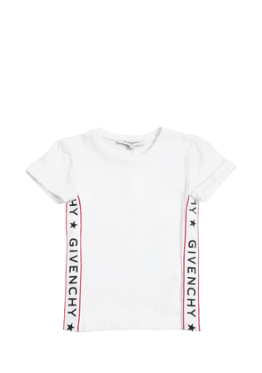 Cotton Jersey T-shirt With Side Bands