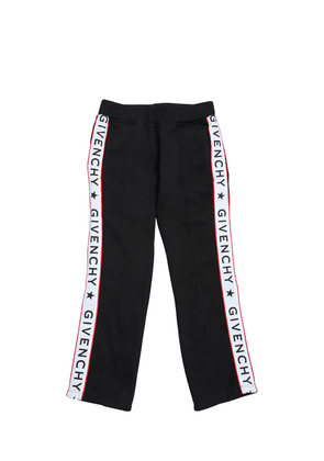 Cotton Sweatpants With Logo Satin Bands