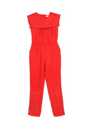 Sailor Collar Viscose Twill Jumpsuit