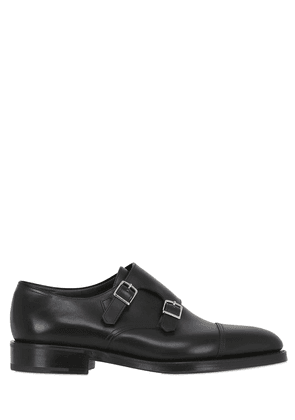 William Leather Monk Strap Shoes