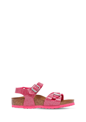 Glittered Faux Leather Sandals