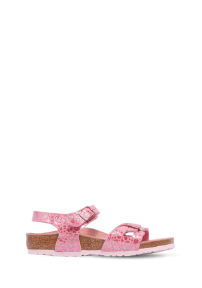 Printed Faux Leather Sandals