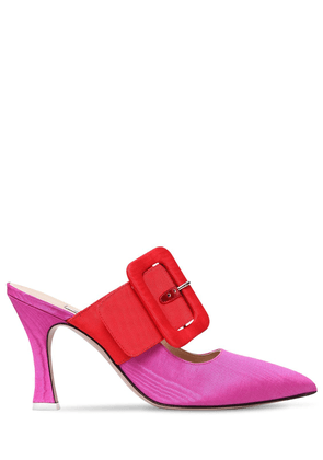 100mm Chloe Buckled Grosgrain Mules