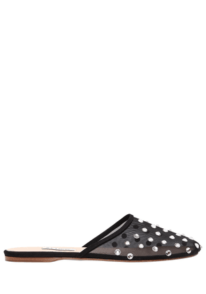 10mm Gina Embellished Sheer Mesh Mules