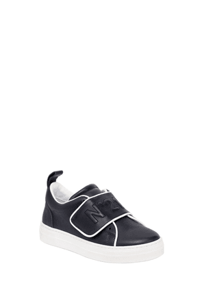 Logo Leather Strap Sneakers
